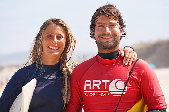 Surf camp parejas y familias art surf camp