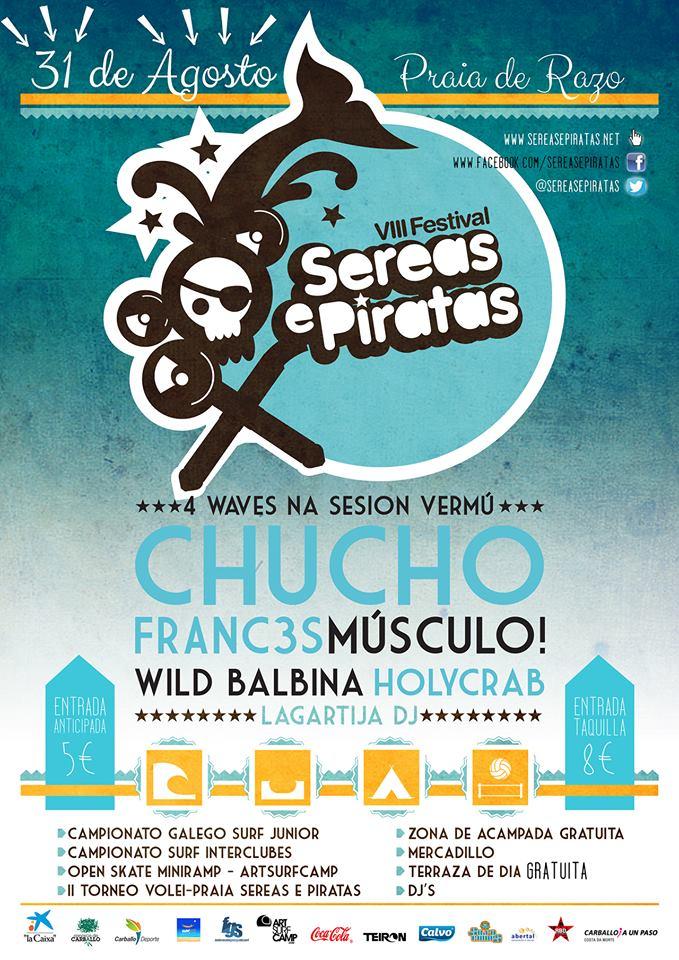 Artsurfcamp Patrocinador VIII Festival Sereas e Piratas Playa De Razo 2013