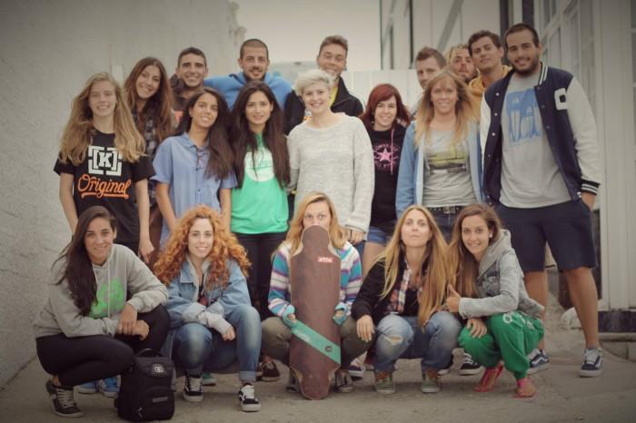 Grupo de Raquel en Artsurfcamp