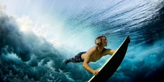 Surf bajo el agua