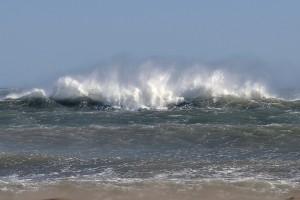 olas y viento