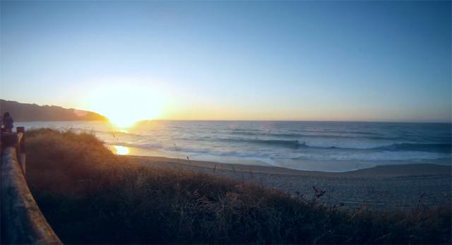 Atardecer Playa de Razo desde Artsurfcamp