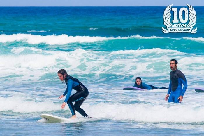 Pie delantero en el surf