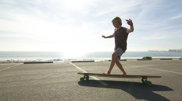 Skateboard surf