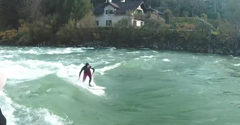surfing river