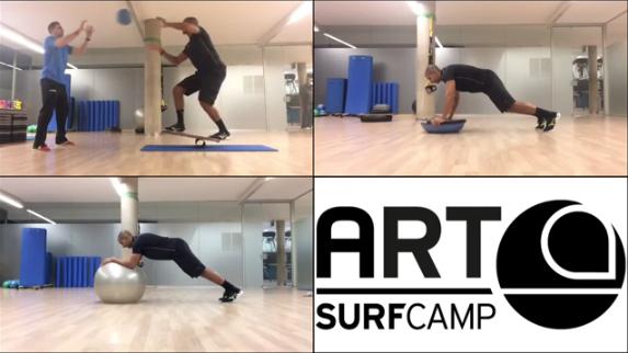 Entrenamiento clases de surf