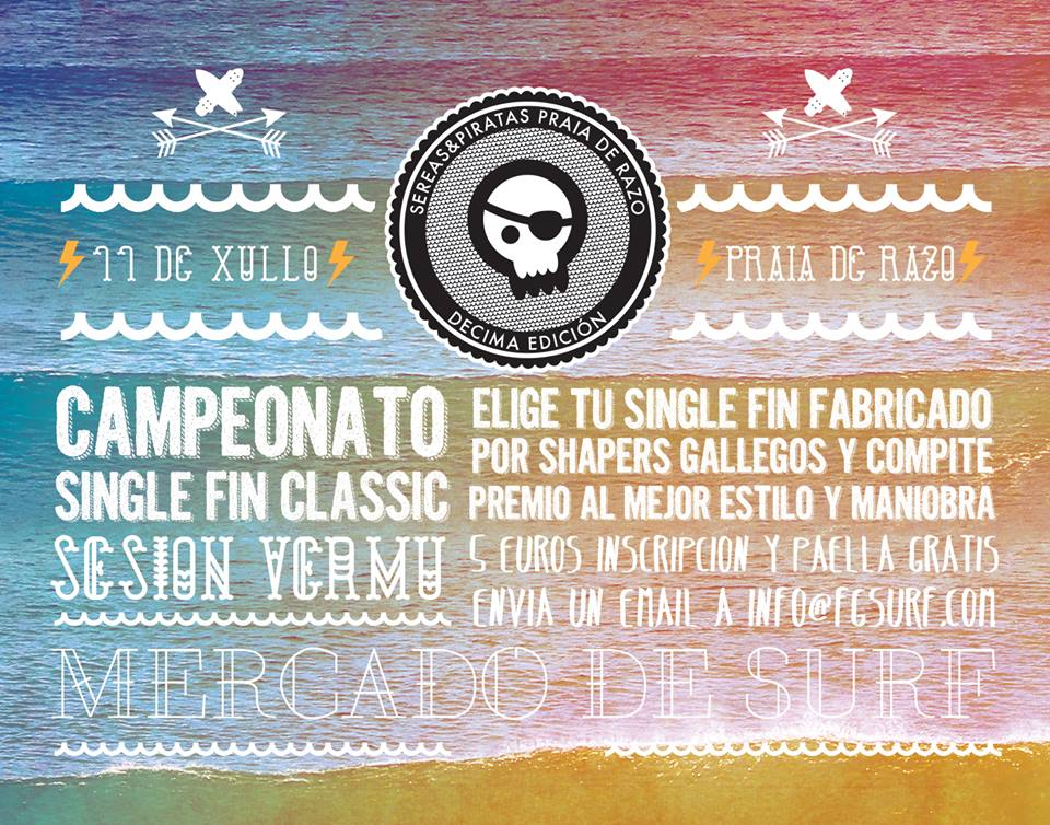Artsurfcamp Organiza El Campeonato De Surf Del Festival Sereas e Piratas