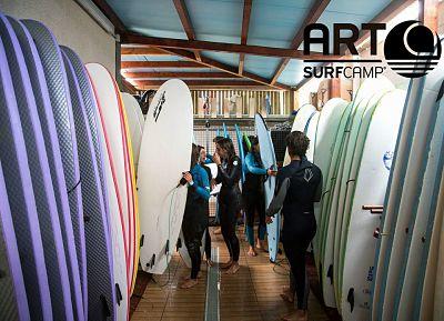Tablas para cursos de surf en invierno - Artsurfcamp