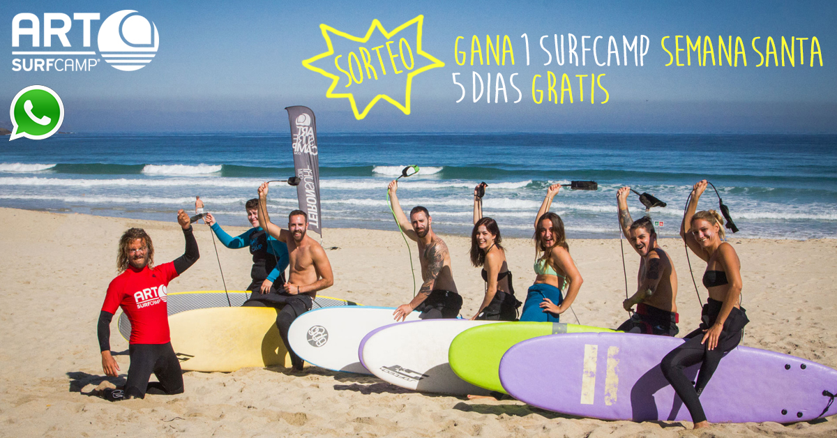 Sorteo Whatspp! Gana 1 Surfcamp Semana Sta