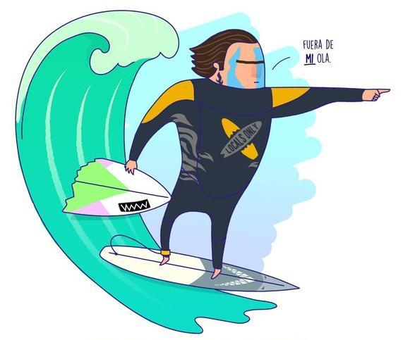 El surfer local