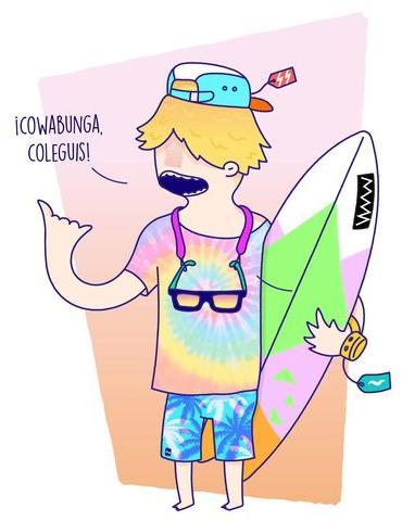el surfer flipado