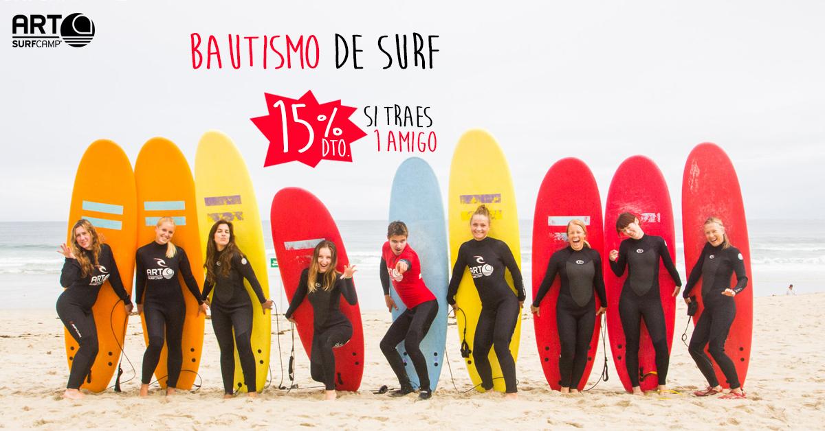15% De Descuento En Tu Bautismo De Surf