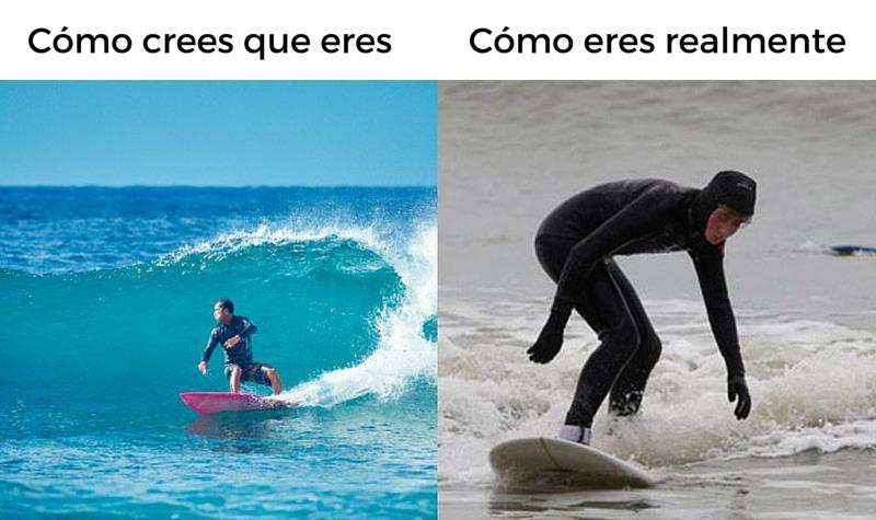 Surfing: Cómo Crees Que Eres vs Cómo Eres Realmente