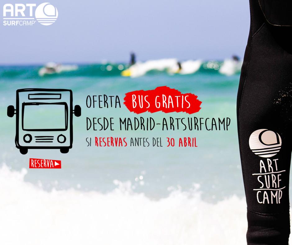 Bus Madrid-Artsurfcamp Gratis. Súbete Al ArtsurfcampBUS!