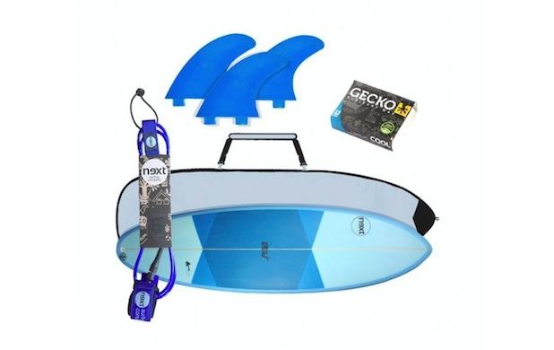 kit iniciación next surfboards tabla surf quillas invento funda parafina principiantes regalos regalo teiron