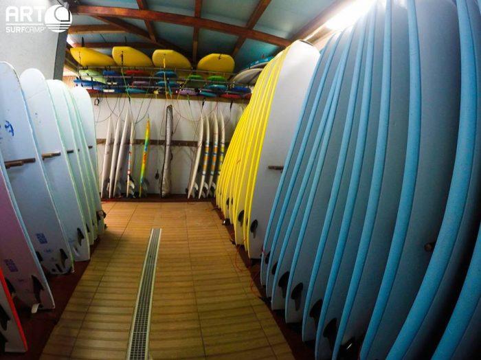 material escuela de surf