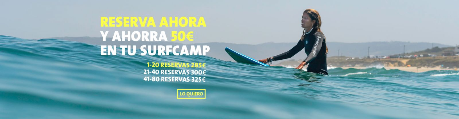 Oferta Surf Camp Reserva Anticipada
